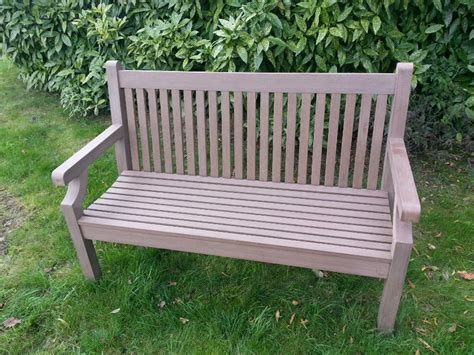 garden bench uk sandwick winawood 3 seater wood effect garden bench