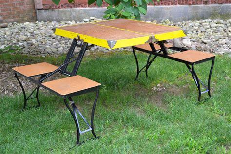 vintage metal portable picnic table milwaukee sting co