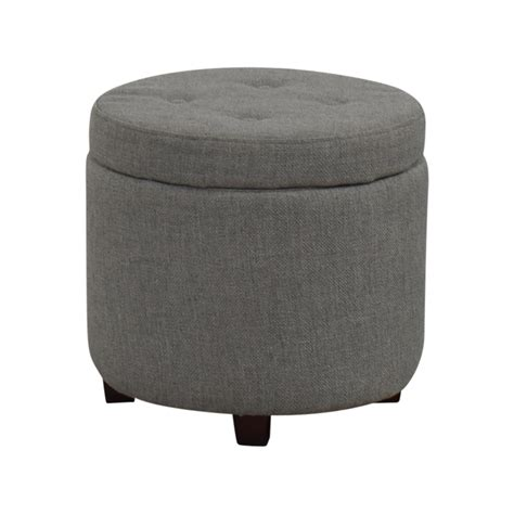 grey tufted storage ottoman 42 off target target grey tufted storage ottoman storage