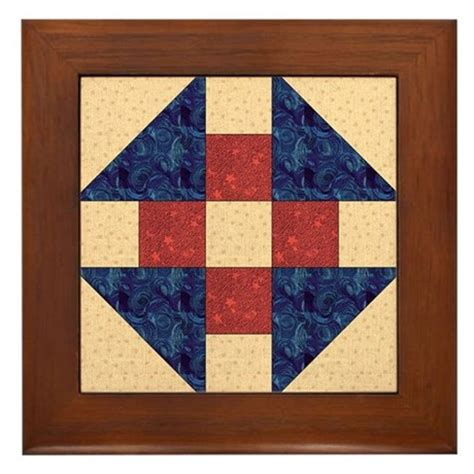 quilt pattern monkey wrench monkey wrench quilt block framed tile by quiltergear