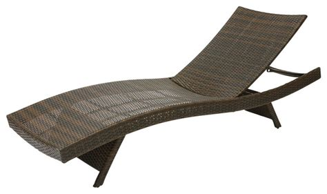 Outdoor Rattan Chaise Lounge lakeport outdoor wicker lounge contemporary outdoor chaise lounges by great deal furniture