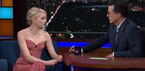 emma stone colbert emma stone and stephen colbert say they suffered from