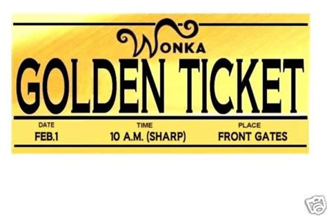 editable willy wonka golden ticket templates clipart best