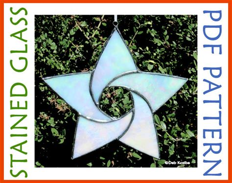 star pattern in c pdf easy stained glass star pattern 5 point star suncatcher