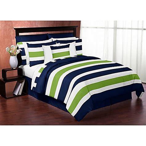 green striped comforter buy sweet jojo designs blue and lime green stripe 3 piece