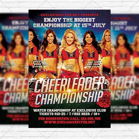 Cheerleading Flyer Template Free