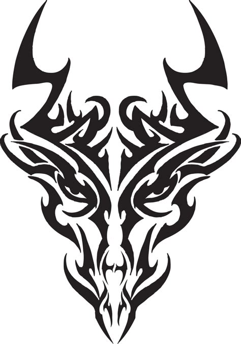 tribal dragon head tattoo tribal tattoos tr masquerade