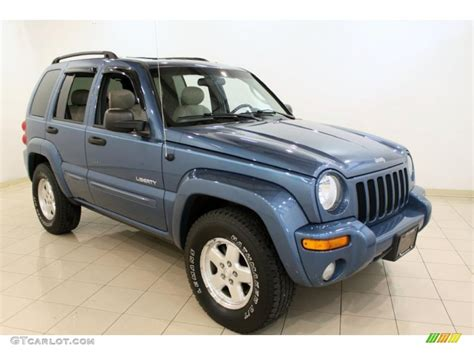 light blue jeep liberty 2004 atlantic blue pearl jeep liberty limited 4x4