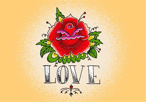rose tattoo download free vector stock