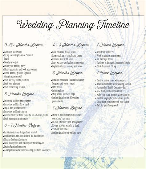 Wedding Location Checklist by Things Needed For Planning A Wedding A Complete Checklist