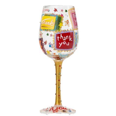 thank you wine glass fitzula s gift shop