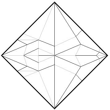simple crane crease pattern | complete cp so with mountain