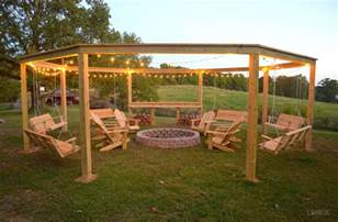 Pergola With Fire Pit remodelaholic tutorial build an amazing diy pergola and