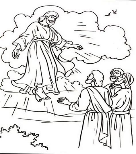 free coloring pages jesus ascension ascension of jesus coloring pages family