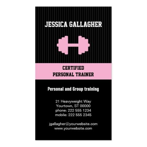 personal trainer business card template 4 000 personal trainer business cards and personal