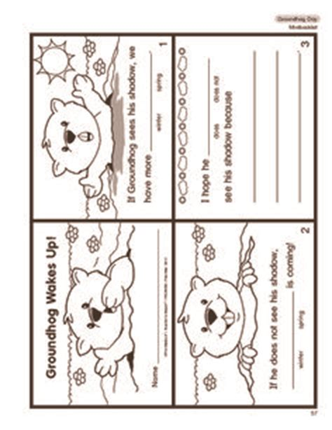 groundhog day kindergarten worksheets groundhog day crafts print your groundhog template at