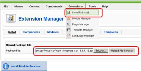 tutorial desain web dengan joomla install virtuemart pada joomla tutorial web desain