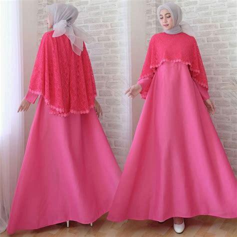Cape Gamis Anindya Gamis Muslim gamis lebaran cape brokat terbaru sofia fanta model baju