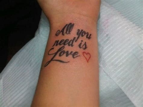 all you need is love tattoo design 33 beatles lyrics tattoos