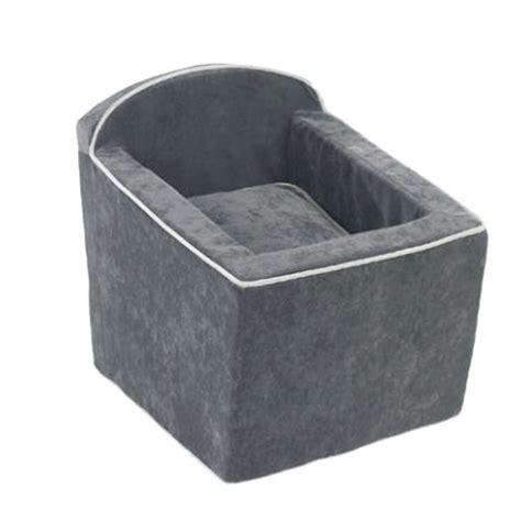 booster for dogs microvelvet car booster seat for dogs thunder luxury boutique glamourmutt