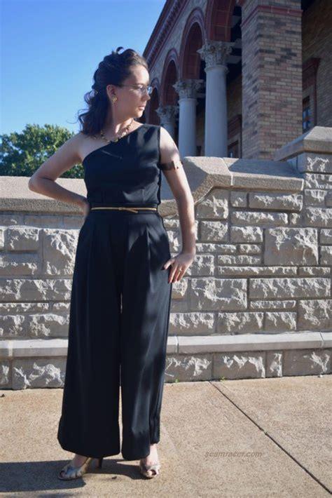 Andina Jumpsuit Bu Unique one shouldered designer jumpsuit sewing projects burdastyle