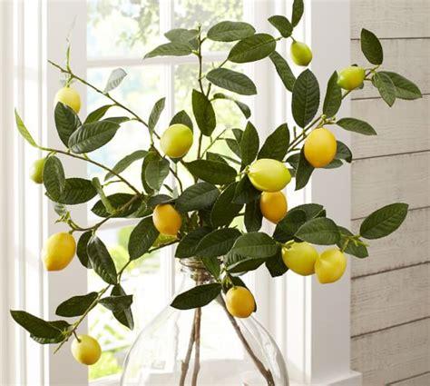 faux tree branches faux lemon branch pottery barn