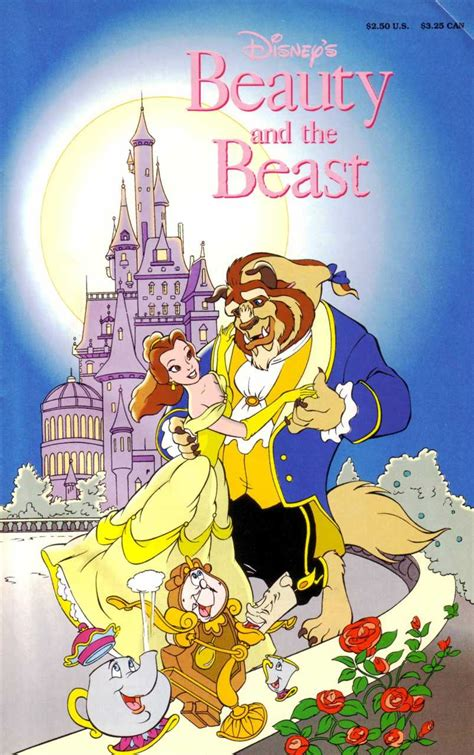 finding in the beast books and the beast official comic adaptation disney