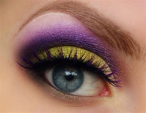 dramatic purple eyeshadow lime and bright purple dramatic eye make up makeup eyes
