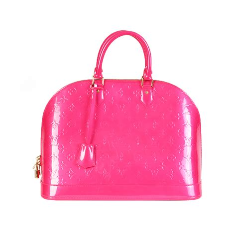 Lv Pink louis vuitton vernis alma gm pink new luxity