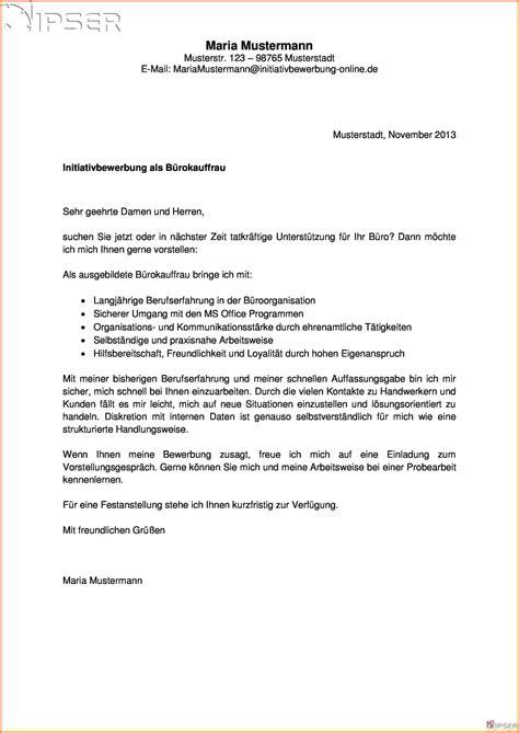 Bewerbung Muster Burokauffrau 11 Initiativbewerbung B 252 Rokauffrau Sponsorshipletterr