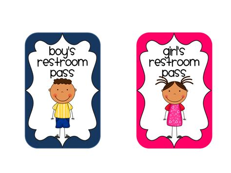 bathroom pass template no more drama and a sanitizer restroom pass
