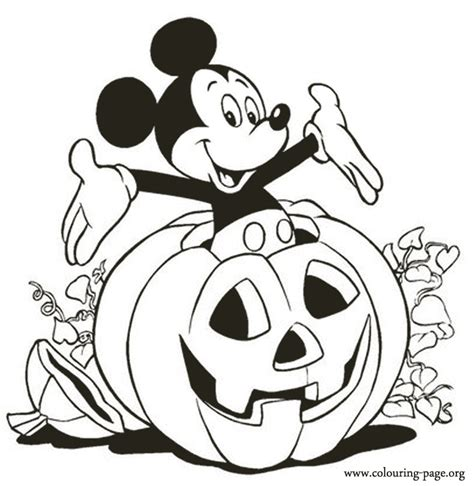 mickey mouse pumpkin coloring page mickey mouse mickey inside a halloween pumpkin coloring page