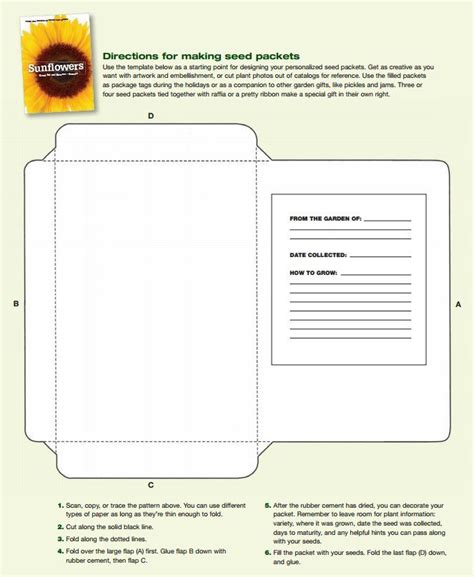 printable seed packet template free printable seed packet template fill with seeds you