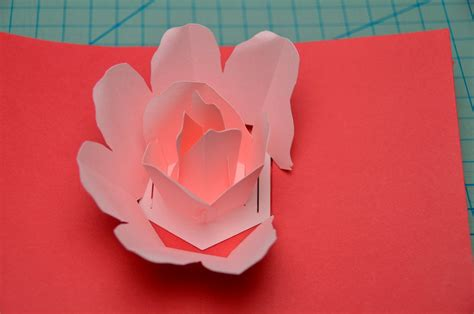 rose flower pop up card tutorial creative pop up cards
