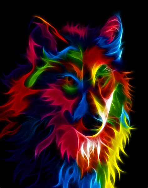super colorful colourful fox by idioti123 on deviantart