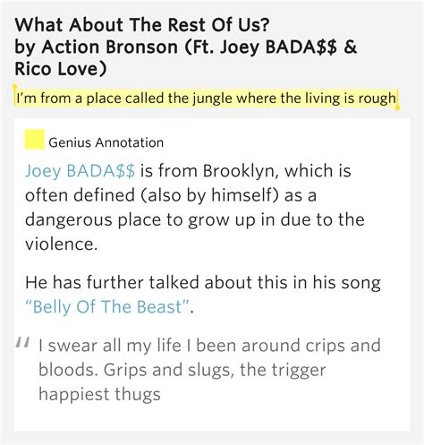 The Place Lyrics Meaning I M From A Place Called The Jungle Where The Living Is What About The Rest Of Us Lyrics