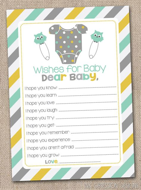 7 best images of printable wishes for baby pdf free