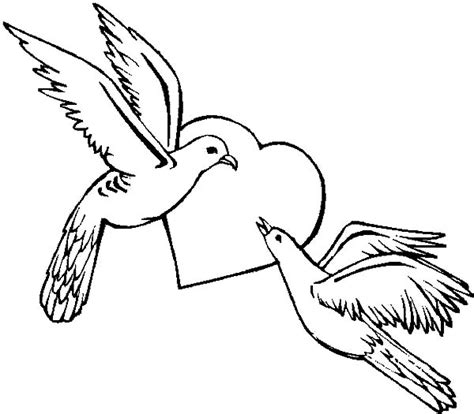 Coloring Pictures Of Lovebirds | love bird coloring pages vitlt com