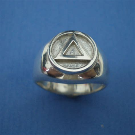 aa alcoholics anonymous ring serenity prayer aa recovery