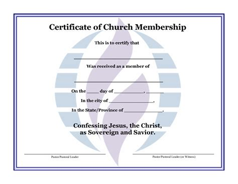 church template church membership certificate images