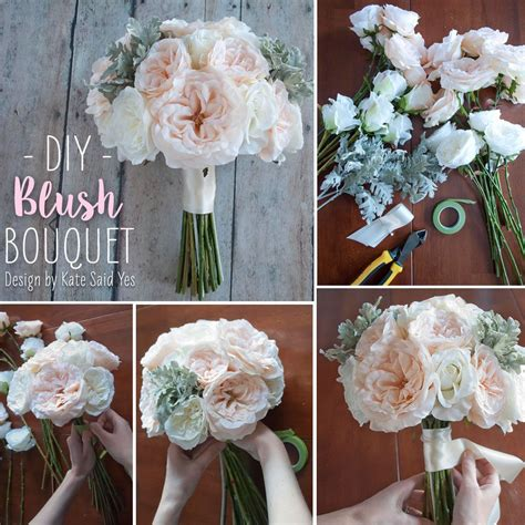 follow this simple diy and make your own wedding bouquets ahead of time with beautiful silk