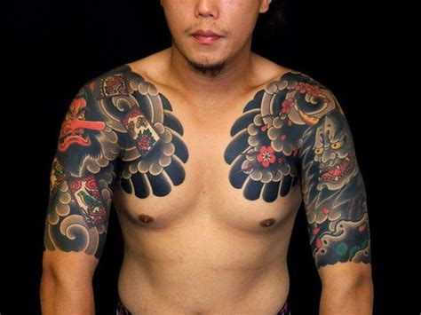 tattoo japanese on chest chest tattoos and designs page 302
