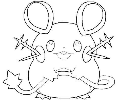 pokemon coloring page dedenne dedenne base by thecat1313 on deviantart