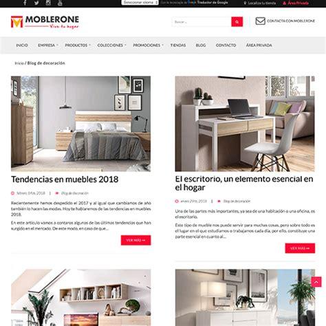 paginas de venta de muebles online dise 241 o p 225 ginas web y marketing online moblerone