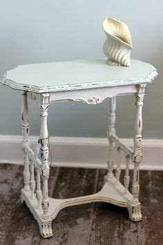 brown and white two tone shabby chic distressed coffee