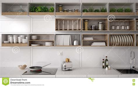 Homes Blueprints by Scandinavian White Kitchen Shelving System Minimalistic