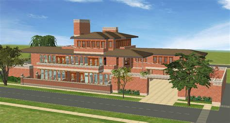 Frank Lloyd Wright Style Home Plans mod the sims frank lloyd wright s quot robie house quot