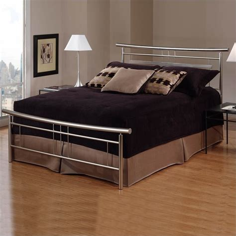 metal beds for hillsdale soho metal bed in brushed nickel finish 1331bxr