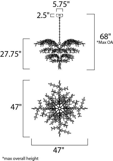 Cluster 12-Light LED Chandelier