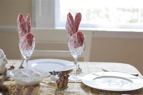 Easter Paper Napkin Folding - easter bunny napkin fold the roost